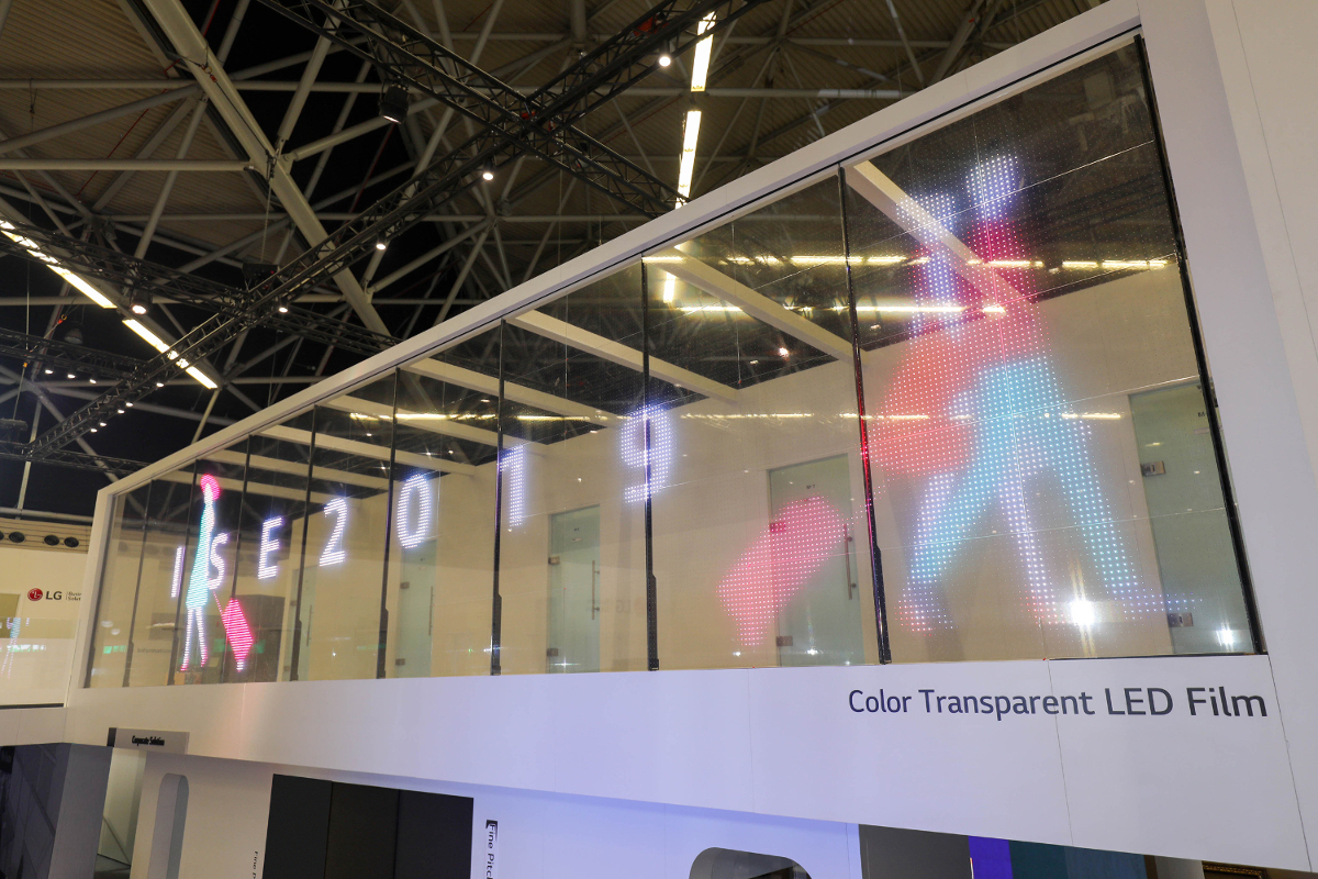 LG Color Transparent LED Film